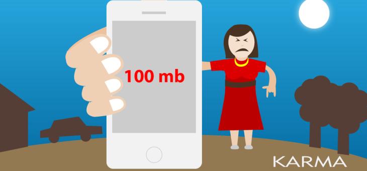 Sopravvivere con 100 MB per cinque giorni