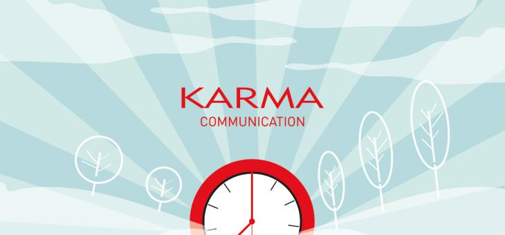 La felicità di Karma Communication per le giornate più lunghe