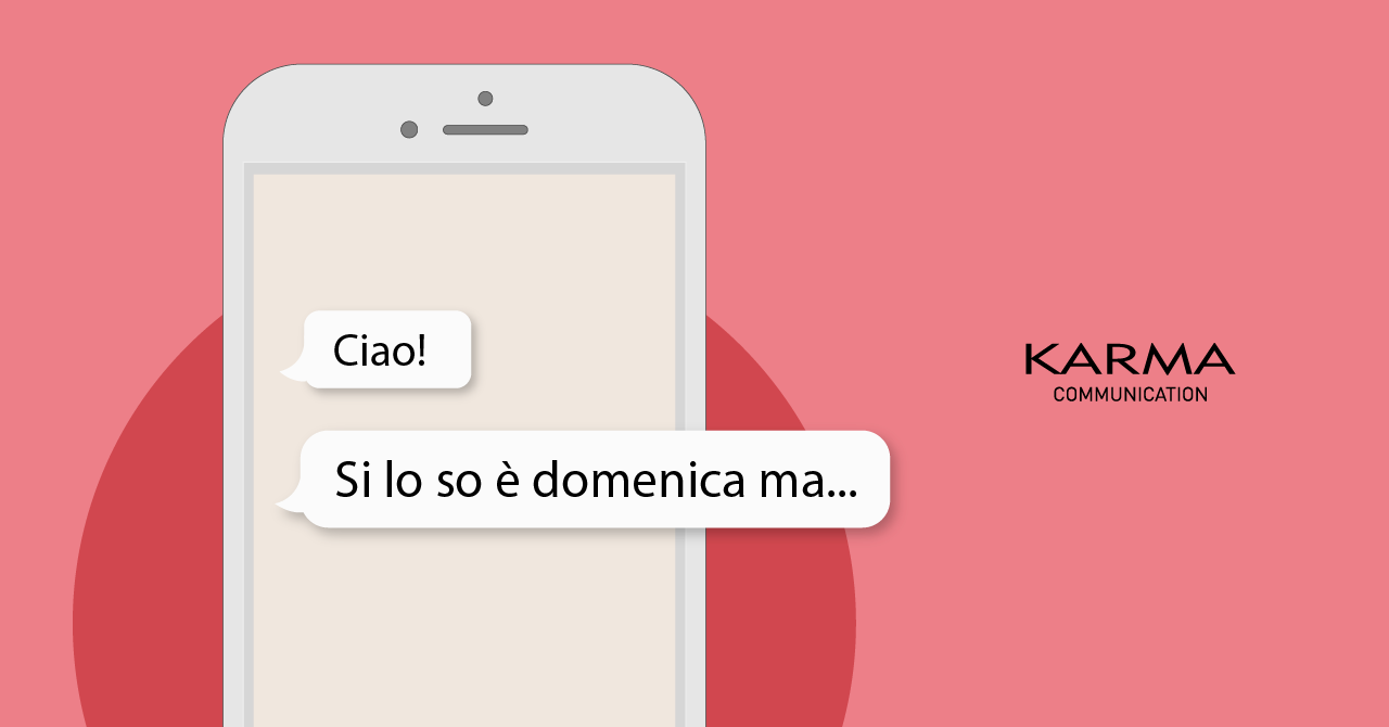 Karma Communication - Si lo so è domenica ma...