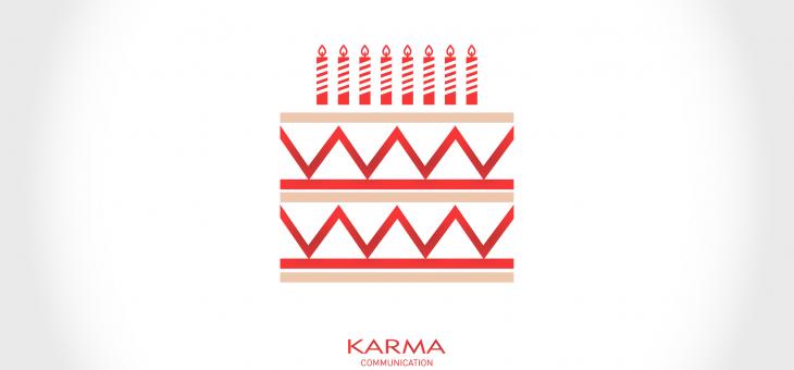 Otto anni di noi, buon compleanno Karma Communication